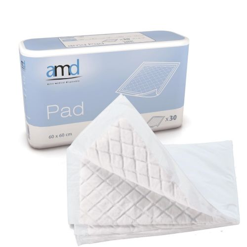 AMD Disposable Incontinence Bed Pads 60x60 super - Pack of 30
